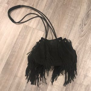 Urban Outfitters real leather fringe crossbody
